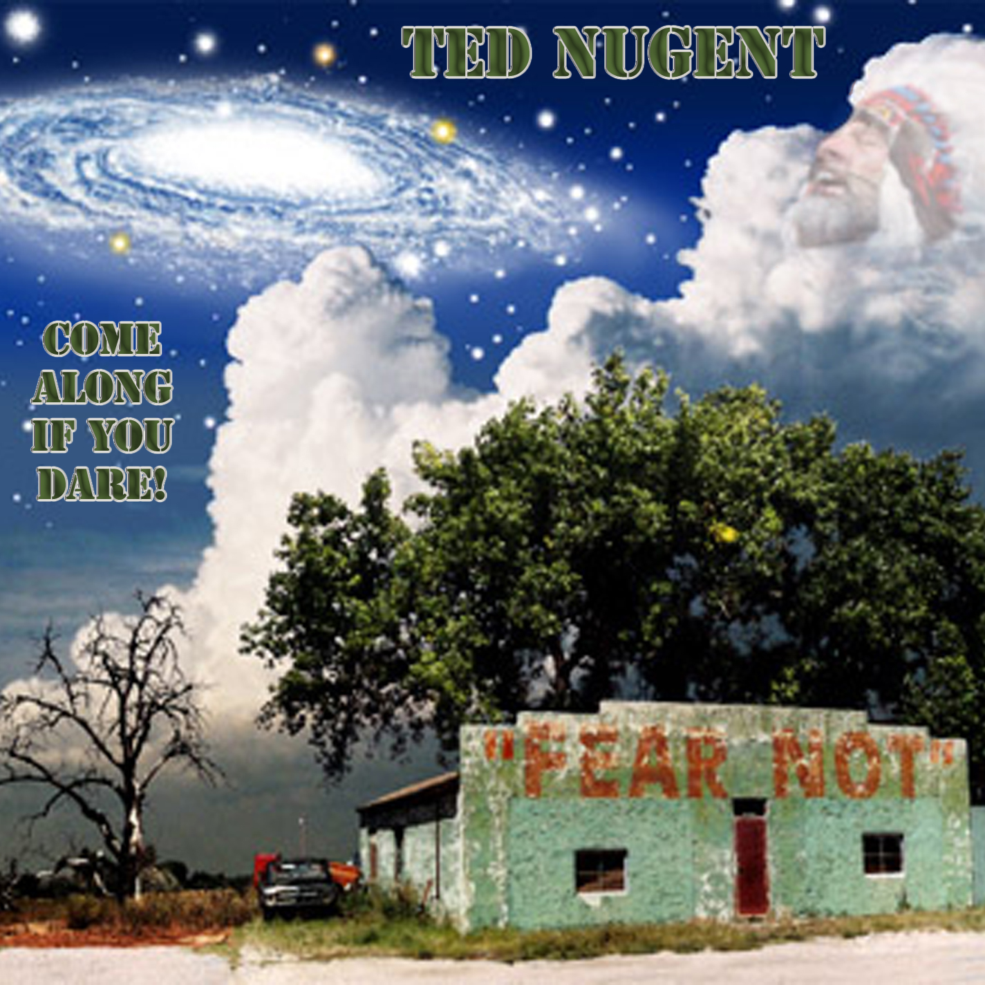 Ted Nugent - Come Along If You Dare! - Cover